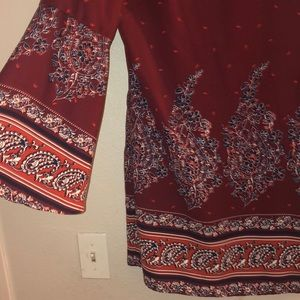 Xhilaration Dresses - NWT xhilaration boho maroon dress